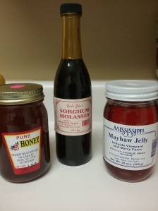 Local honey Sorghum syrup Mayhew jelly