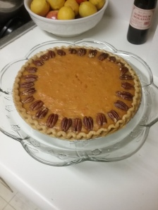 Sweet potato pie: good for breakfast, lunch, supper, snack, hot or cold