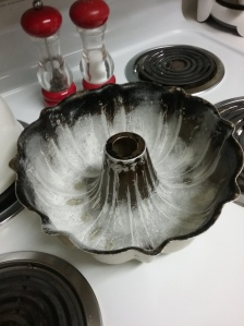 Grease and flour the pan