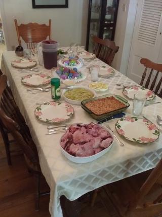 Early Easter dinner