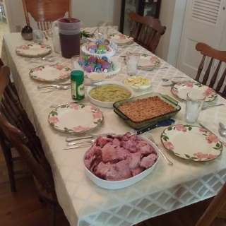 Early Easter dinner