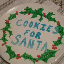 Cookies for Santa plate, made in 1994.